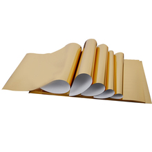 цена wholesale metallic gold foil heat transfer good flex vinyls 30x100cm iron on transfer vinyl HTV for t shirts easy to cut films онлайн в 2017 году