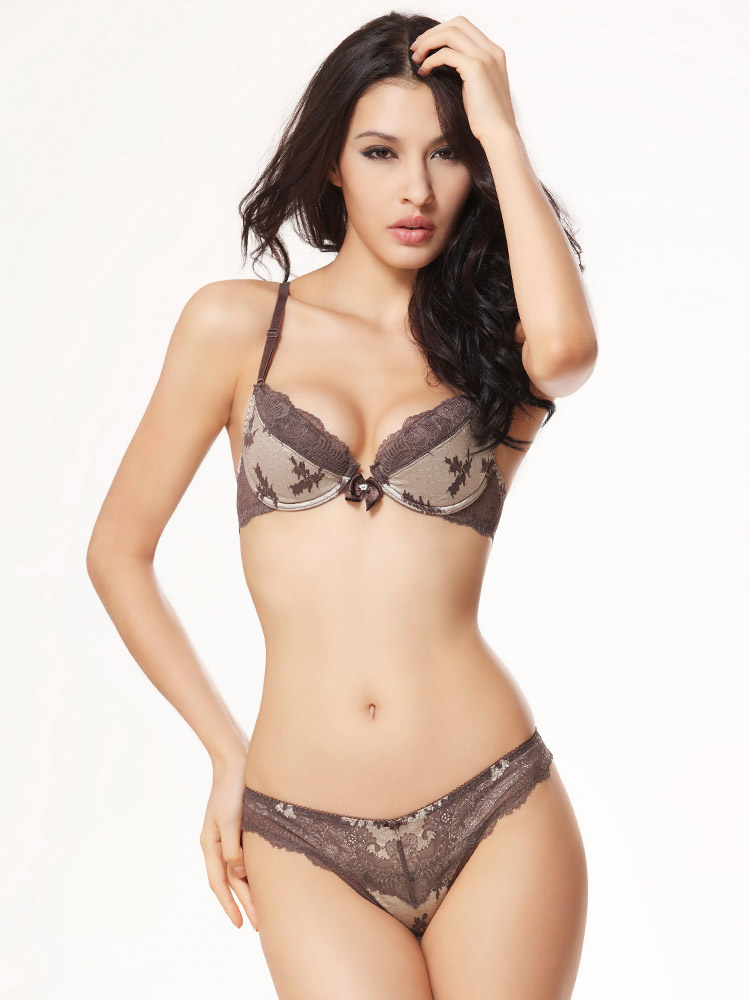 abb64f40c9 6307 Summer thin thick 8 colors can be choosed Fashion sexy women s  underwear 3 4 BC cup bra set size 32C 34B 36B 36C 38B