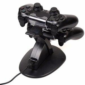 Image 2 - PS4 アクセサリージョイスティック PS4 充電器プレイステーション 4 デュアルマイクロ USB 充電ステーションソニーのプレイステーション 4 PS4 コントローラ