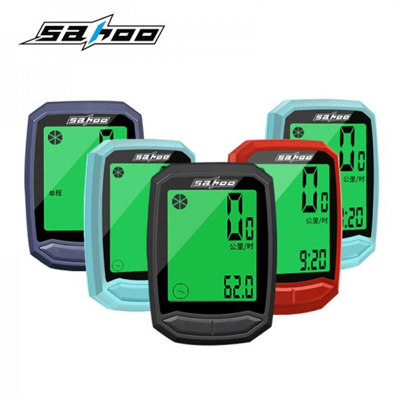 Wireless Bike Computer Waterproof LCD Backlight Bicycle Computer Digital Speedometer Odometer Cycle Velo Computer Odometer