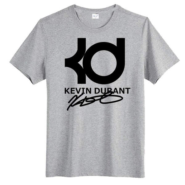 363f641ea Round Neck Men 100% Cotton Tee Shirt kevin durant kd Printing Custom T  shirts for