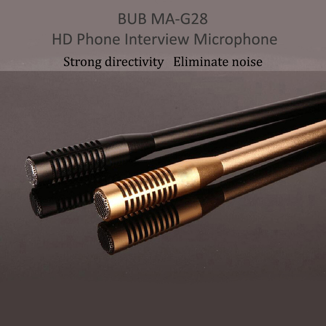 BUB MA G28 6m Wired HD Plug And Play Interview Microphone Mobile Phone Video Recording Large Condenser Microphone Waterproof