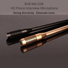 Bub MA G28 6m com fio hd plug and play entrevista microfone do telefone móvel gravação de vídeo grande microfone condensador à prova dwaterproof água