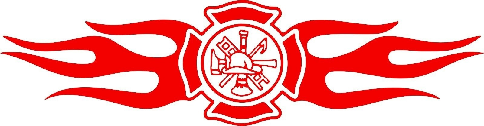 For Maltese Cross Fireman Fire Rescue Car Truck Window Vinyl Decal Sticker Various Sizes Exterior Accessories Automobiles & Motorcycles