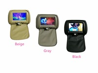 Factory Direct 1 Pair 7 Inch Car Headrest Monitor TFT LED Screen Pillow Monitor With Zipper