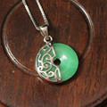New Arrival Delicate Jade Pendant Necklaces 925 Sterling Silver With White Gold Plated Fashion Jewelry S0032