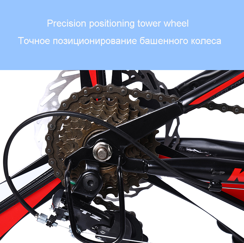 HTB1WH.Ja4D1gK0jSZFyq6AiOVXad 26inch mountain bike 21speed folding bicycle Adult bike Men's and women's mountain bike Spoke wheel and knife wheel bike