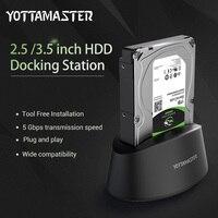 Yottamaster HDD Adaptateur Cas Outil Livraison USB 3.0 à SATA Externe Boîtier de Disque dur Boîte station D'accueil pour 2.5 3.5 HDD SSD