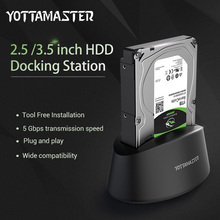 Yottamaster HDD Adapter Case Tool Free USB 3.0 to SATA External Hard Drive Enclosure Box Docking station for 2.5 3.5 HDD SSD