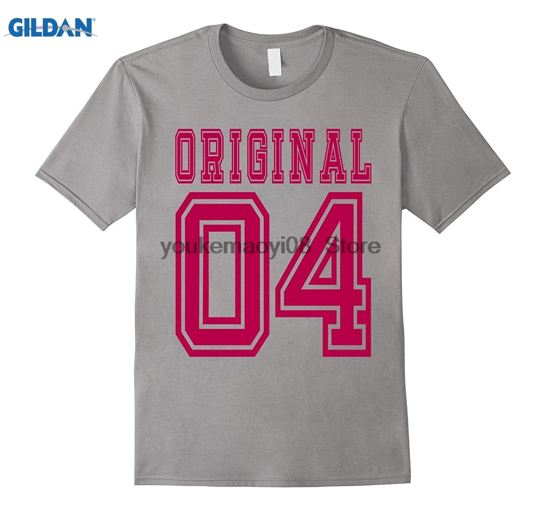 Возьмите пользовательские печатные хлопок футболка с круглым вырезом 2004 футболки 13th подарок на день рождения возраст 13 лет мальчик B-день C ...