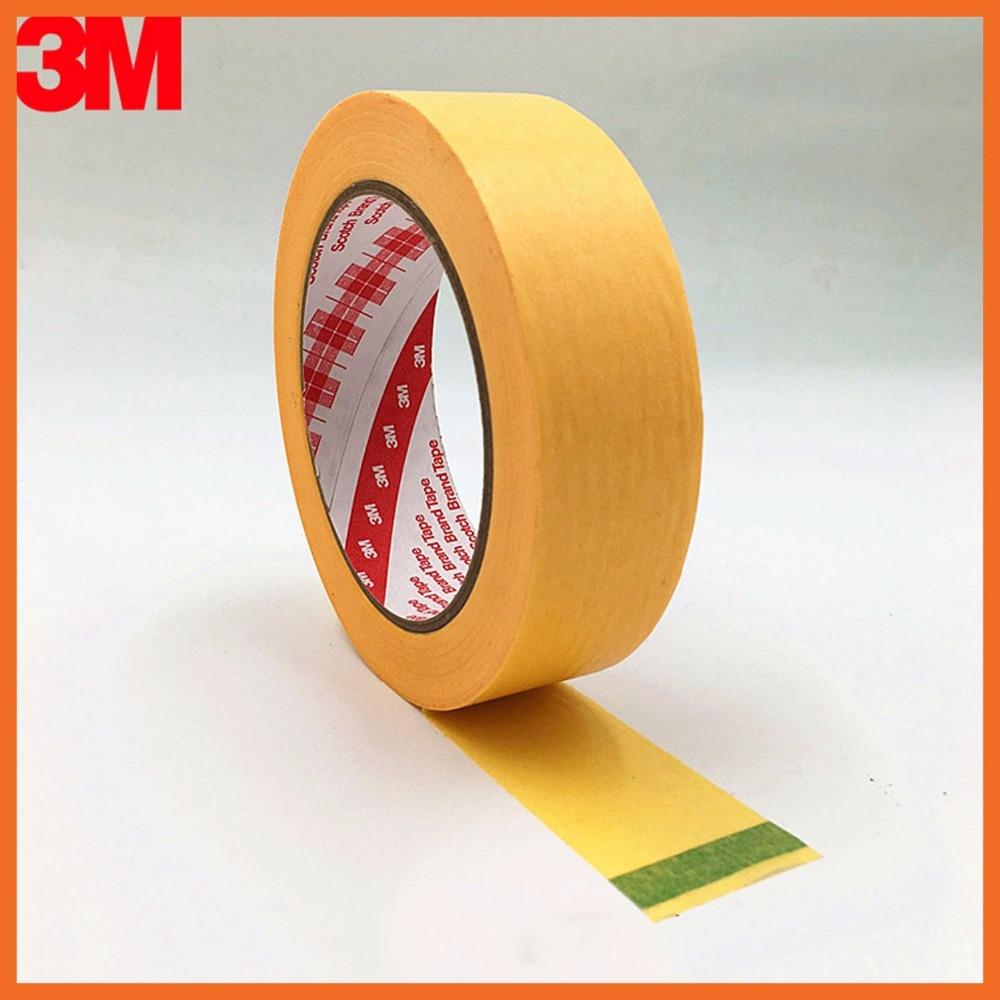 купить Yellow Masking Tape for PCB Auto High Temperature Painting Coating Shielding Protecting 60mmx164ft 3M244 по цене 3195.2 рублей