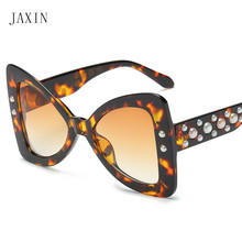 JAXIN Fashion bow Sunglasses Women personality trend big box eye protection Ms. brand design gorgeous wild UV400