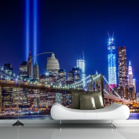 Mural NY Trade Centre Lights Mural Photo Wallpaper 3d Mural Wallpaper