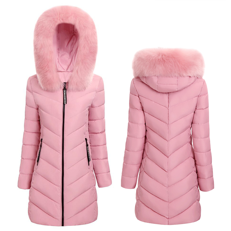 winter jacket women 2018 Winter Female Long Jacket Winter Coat Women Fake Fur Collar Warm Woman   Parka   Outerwear Down Jacket Coat
