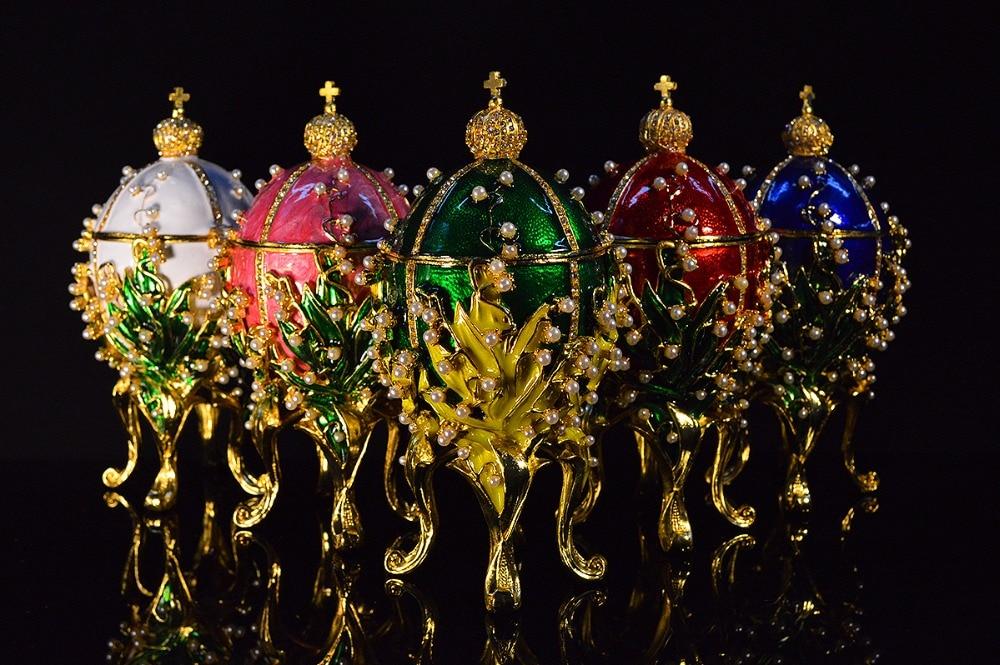 QIFU Luxuriöse handwerk metall qifu faberge ei Perle inlay Emaille wohnkultur-in Figuren & Miniaturen aus Heim und Garten bei AliExpress - 11.11_Doppel-11Tag der Singles 1
