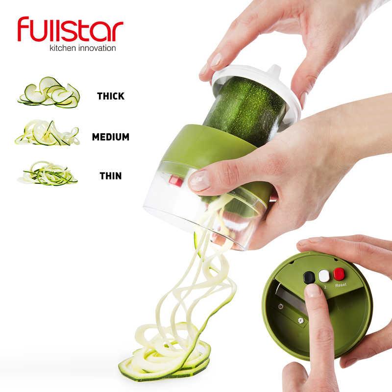 Fullstar Espiral Vegetal Slicer Cortador Ralador Vegetal Spiralizer Cenoura Pepino Abobrinha Abobrinha Spaghetti