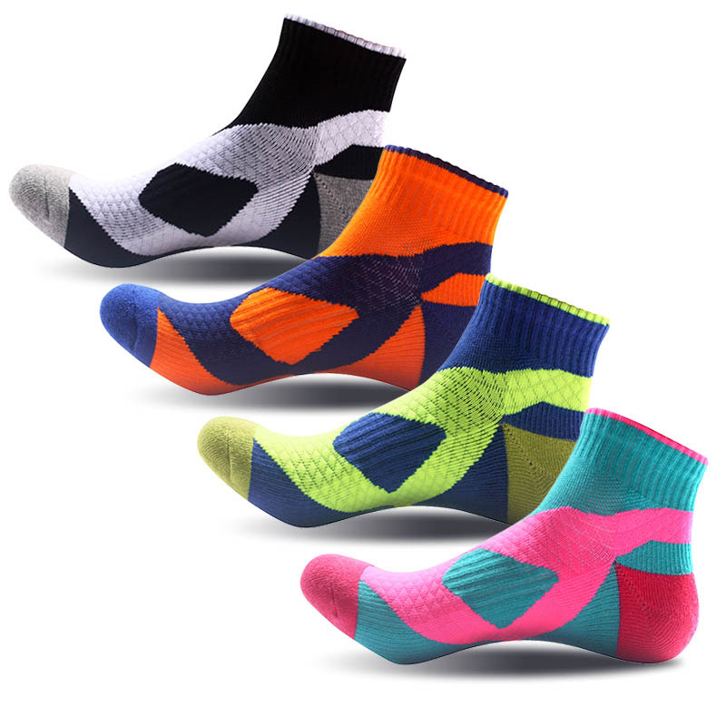 4pcs/lot brand socks men 100 cotton breathable compression pants socks colorful Standard Short meias Fit EU39-45
