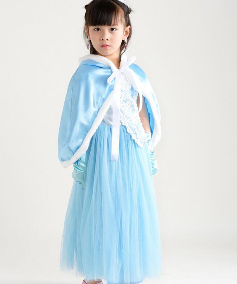 Snow White Princess Elsa Anna Dress Kids Halloween Costume Red Blue Cloak Girls Dress For Children Christmas Gifts Party Cosplay