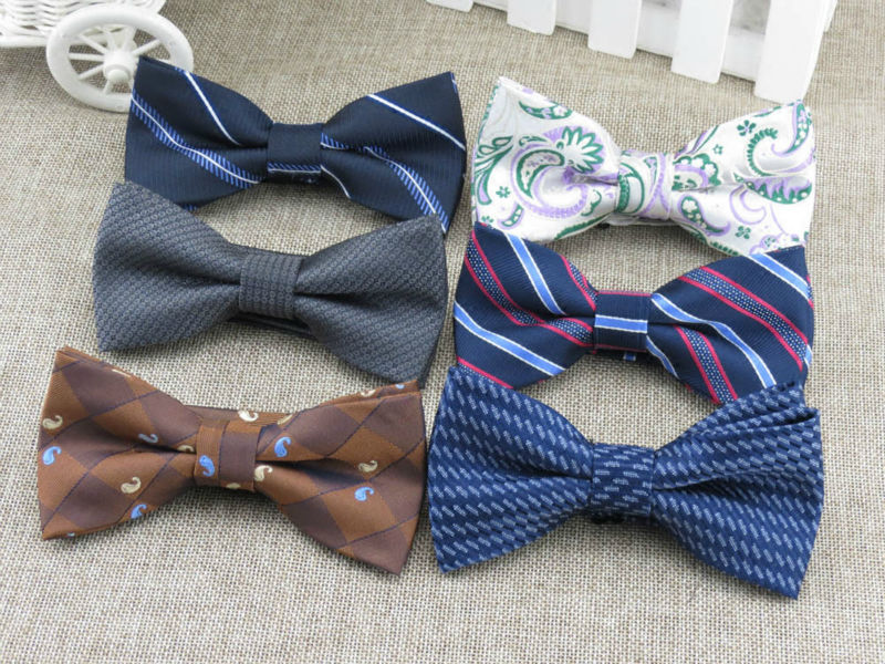 black dot and stripe bow tie/fashion women bowtie han edition mens leisure style bowknot