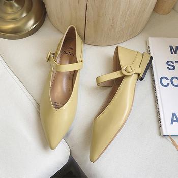 Pointed Toes mieszkania buty damskie letnie jesienne buty damskie 2019 nowe Slip On sandały damskie klasyczne buty z paskiem eleganckie buty do łodzi tanie i dobre opinie Moxxy Buty łodzi Płytkie Gumowe Wiosna jesień Slip-on Fabric Stałe Dla dorosłych Szpiczasty nosek Pasuje prawda na wymiar weź swój normalny rozmiar