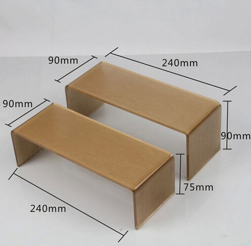 High Quality Gold Color Acrylic Display Stand Shoe Rack Shoe Holder Jewelry Display Stand Wallet Holder rack Shoe Cabinets high grade mercerized silk pendants display shows the disc tray jewelry ring display stand jewelry stand props wholesale