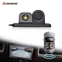 TOPSOURCE Car Parking Sensors Rear View Backup Camera 2 In 1 Universal High Clear Night Vision For Reversing Radar Parktronic