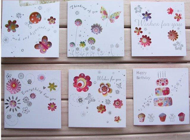DIY Greeting Cards Birthday Christmas 100pcs Lot Free Shipping