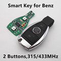 Car Smart Remote Key 315 МГц 433 МГц для Mercedes-BENZ 2000 + с NEC BGA 2 Кнопки Без Ключа