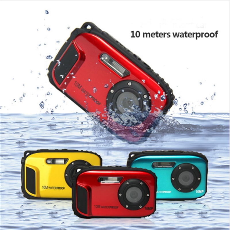 HD Waterproof Camera Digital 16MP 2.7' Photo Camera 8x Zoom Instax Camara De Fotos Anti-shake Video Camcorder 1080P CMOS