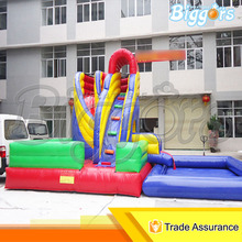 Inflatable Biggors Inflatable Slide With Pool For Kids And Adults For Sale
