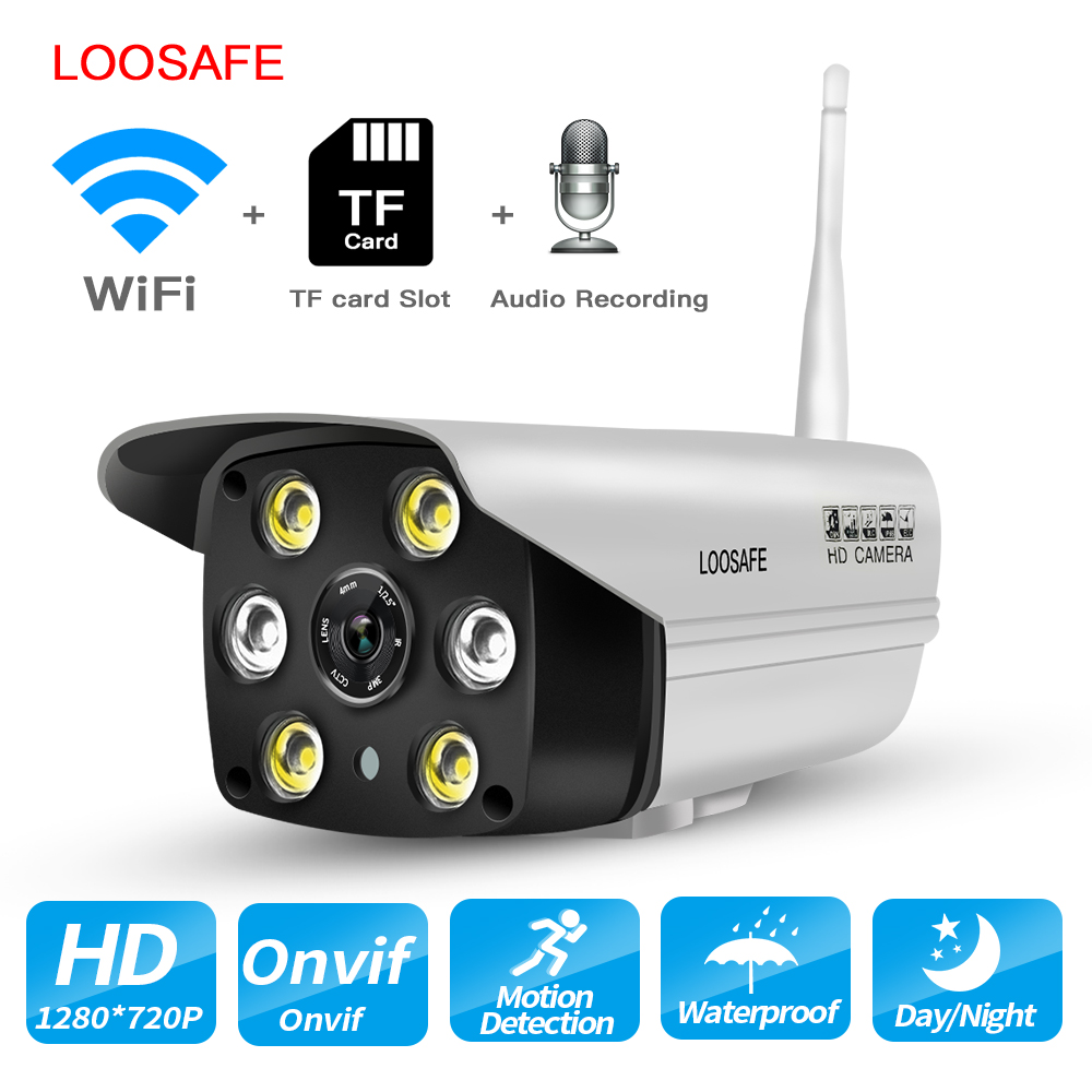 LOOSAFE HD Home Security IP Camera Wi Fi Indoor Outdoor Waterproof with Hotspot Onvif Night Vision day&nigh Full Color Cameras