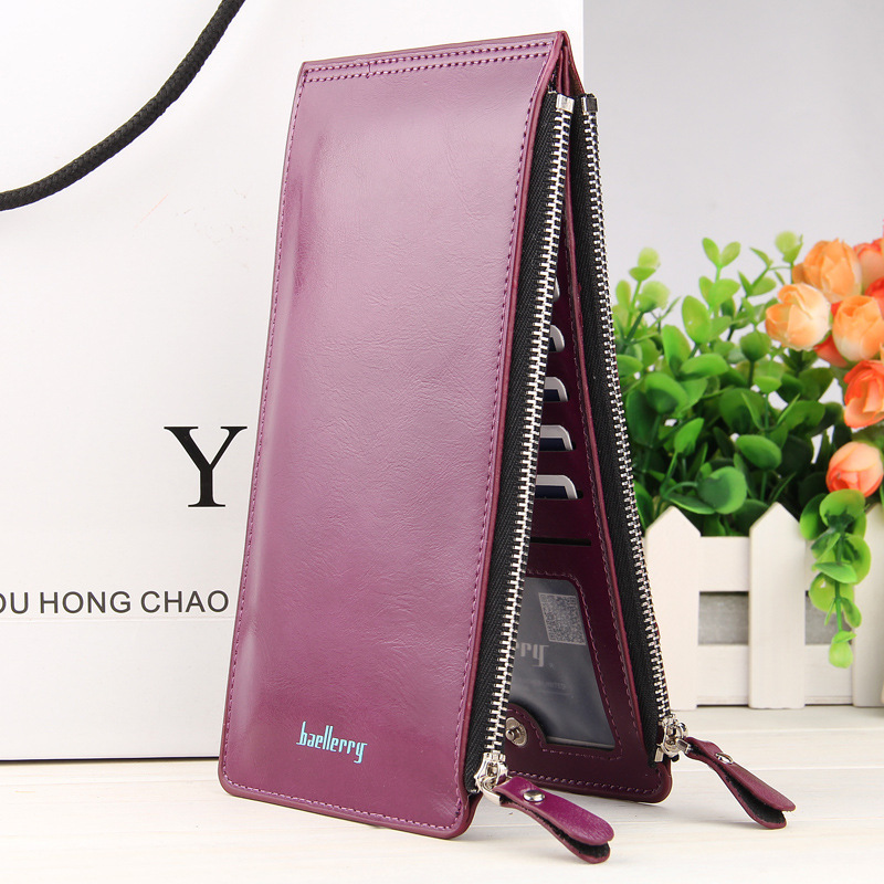 Fashion New Women Wallets High Quality Solid Color PU Leathe