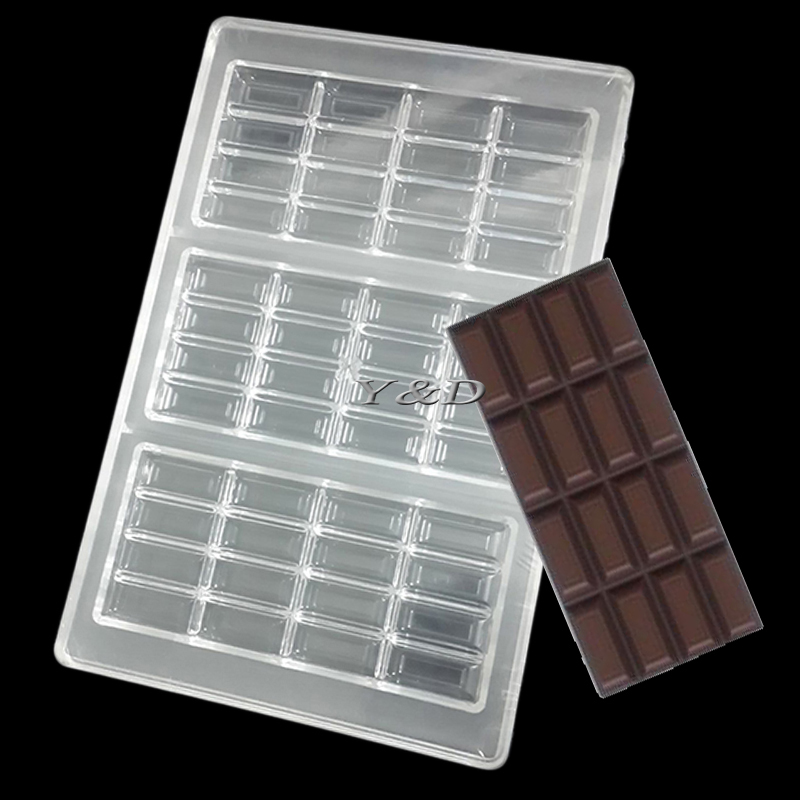 DIY 3 D  4-Lines Bar Polycarbonate PC Chocolate Mold Confectionery Formas Para Chocolate Baking Tools
