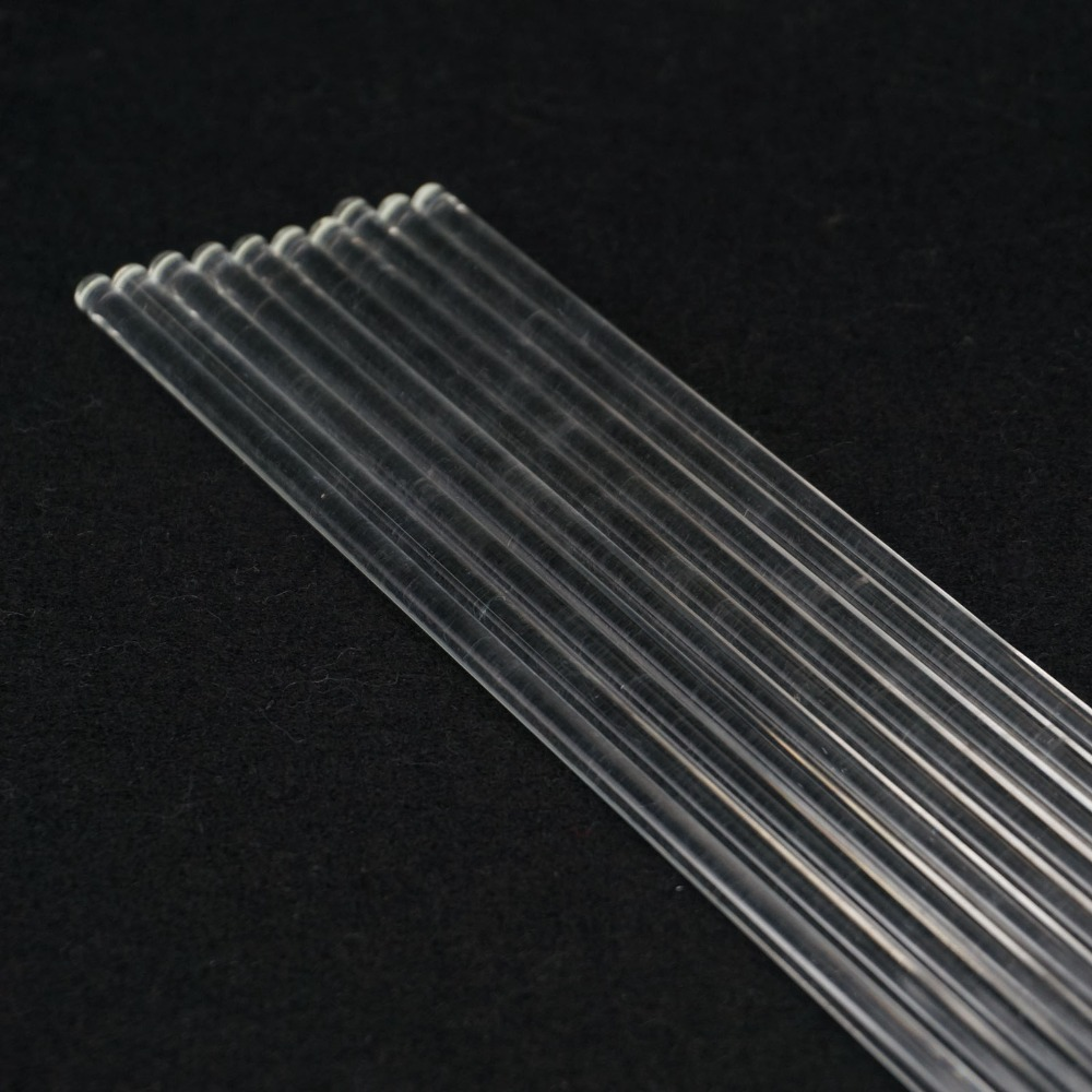 LOT10 6x300mm Lab Glass Stirring Rods Borosilicate High Resistant Stirrer
