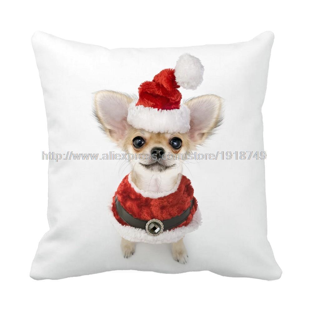 ᐂLindo perro Chihuahua con Navidad sombrero de paño impresión ...
