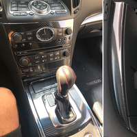 Car Styling 3D/5D Carbon Fiber Car Interior Center Console Color Change Molding Sticker Decals For Infiniti G25 G37 2010 2016