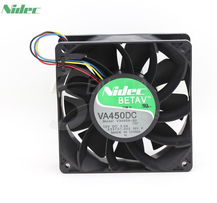Nidec VA450DC V34809-90 CQ1  Super strong 12V 3.3A 12CM 120mm axial server inverter cpu computer cooling fans original for nidec ta550dc a34885 90 14070 12v 5 0a server cooling fans