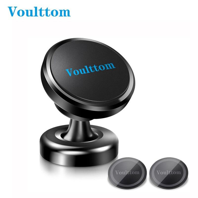 Voulttom Telefon halter Stehen in Auto Magnetische Universal 360 Rotation Dashboard Handy Halterung für iPhone Samsung Huawei Xiaomi