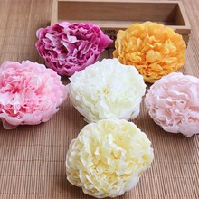 10PCS,9.5-10CM Head Large Fabric Roses Heads Artificial Silk Flowers Peony,DIY Wedding Bouquet Decoraton Accessories,Door Wreath