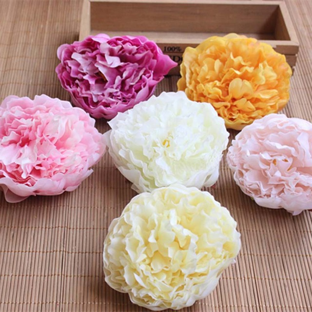 10PCS,9.5 10CM Head Large Fabric Roses Heads Artificial Silk Flowers ...