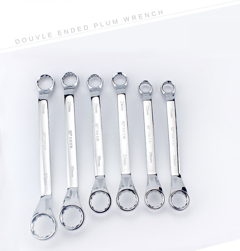 12 Point Box-End Wrench Spanner Hand Tools Silver Tone Crv Steel Double Ring Wrenches Set