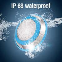 אורות מתחת למים LED בריכת אור RGB צמודי IP68 AC 12V נירוסטה מזרקת מנורת ספא בריכת מנורות