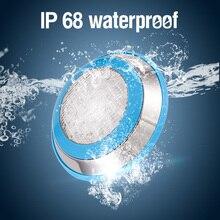 Oświetlenie do basenu LED IP68 wodoodporny AC/DC 12V 12W 15W 18W na zewnątrz RGB światło podwodne staw Led Piscina Luz Spotlight