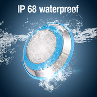 Underwater Lights LED Swimming Pool Light RGB Surface Mounted IP68 AC 12V Stainless Steel Fountain Lamp Spa Pond Lamps