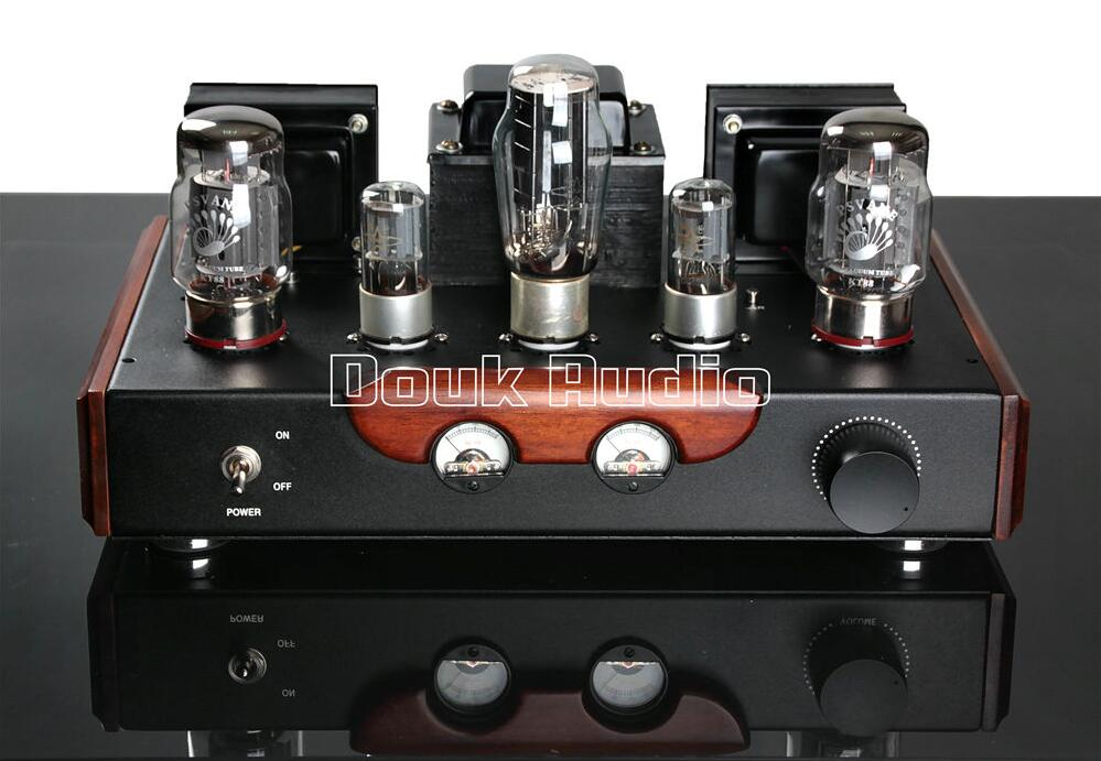 Douk Audio PSVANE KT88 Class A Power Tube Amplifier Single-ended HiFi Audio 18W+18W Large Power Finished Product 110~240V douk audio latest appj assembled fu32 single ended class a tube amplifier audio power amp board hifi diyer free shipping