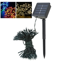 Solar Lamps Power LED String Wedding Lights Garlands Lights Solar Garden Christmas Lights Holiday Outdoor Fairy
