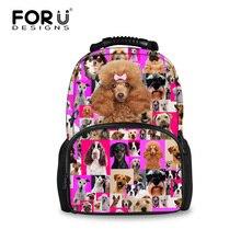 Mignon caniche chiot chien sacs décole pour adolescente filles grande taille enfants filles Animal cartable femmes voyage sac à dos Mochila enfants