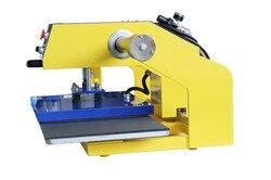 50*60cm drukarka płaska podwójne miejsce prasa ciepła na pneumatyczne powietrze wszystko w jednym druku ciepła naciśnij gumowa maszyna do stemplowania