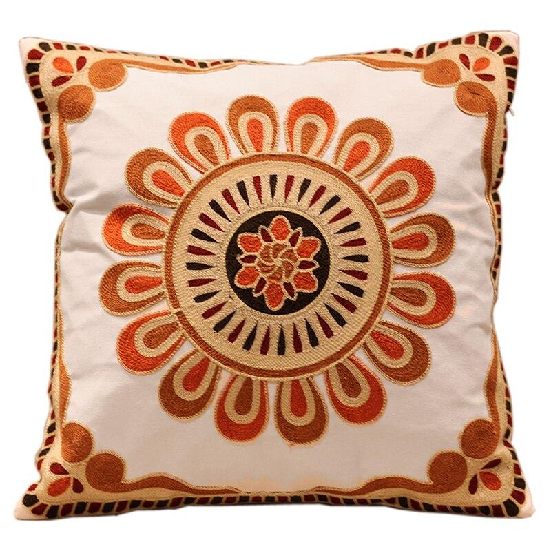 Online Get Cheap Embroidered Sunflower Pillow Aliexpresscom