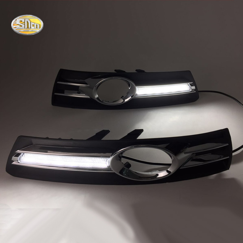 SNCN LED Daytime Running Lights for Volkswagen Vw Passat CC 2009 2010 2011 2012 2013 fog lamp DRL daytime running light for vw volkswagen passat b6 2007 2008 2009 2010 2011 led drl fog lamp cover driving light